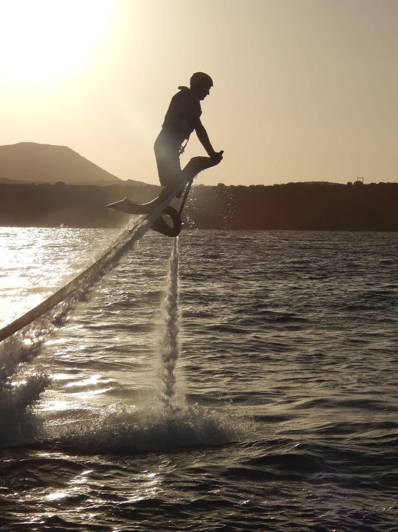 Flyboard volteada
